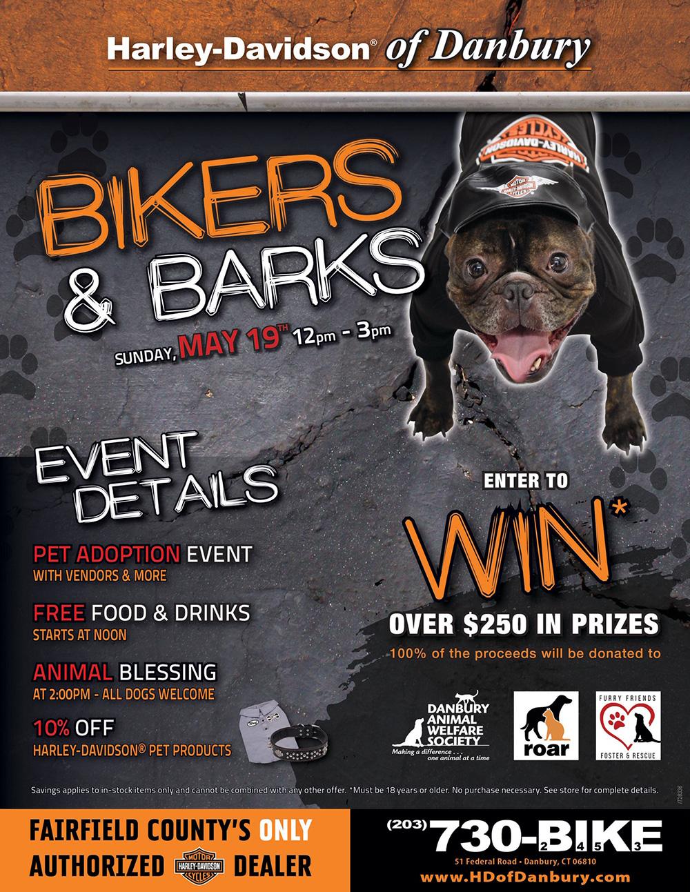 Bikes And Barks Harley Davidson Adoption Event Danbury Animal Welfare Society