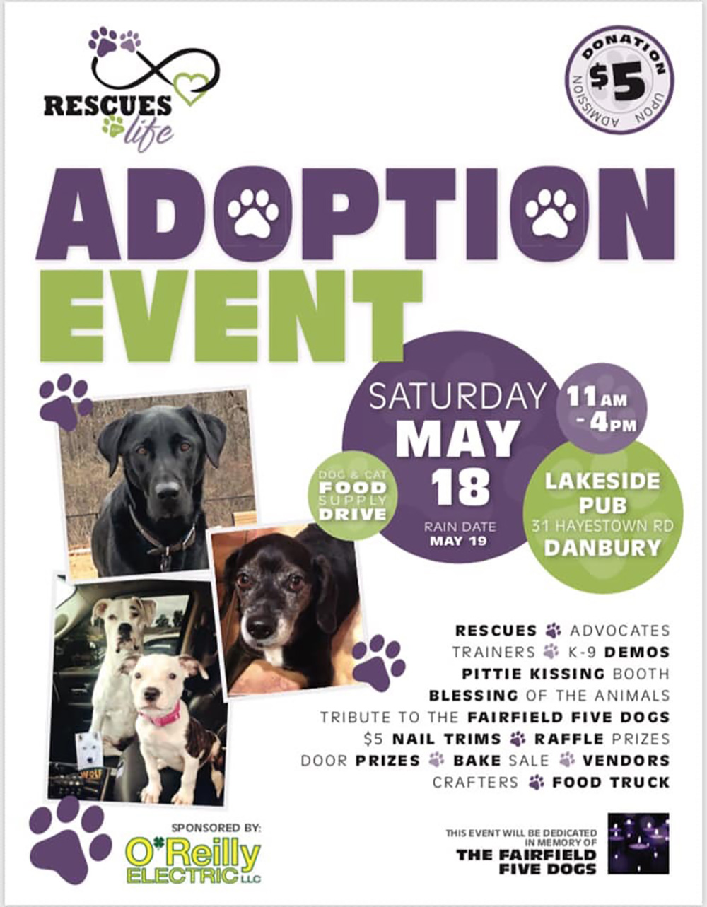 Rescues For Life Adoption Event Danbury Animal Welfare Society